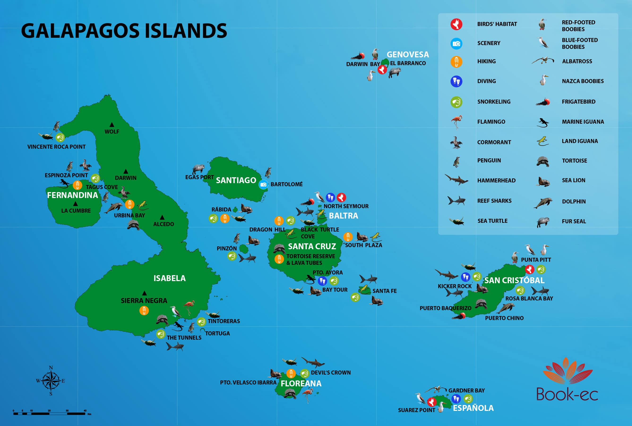 Galapagos Travel Guide 2020 Map Weather Fees Important